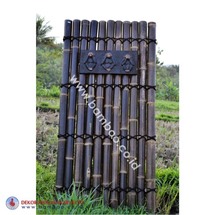 Black Bamboo Half Raft Panel, Bamboo Screen, Bamboo Screens, Bamboo Fence