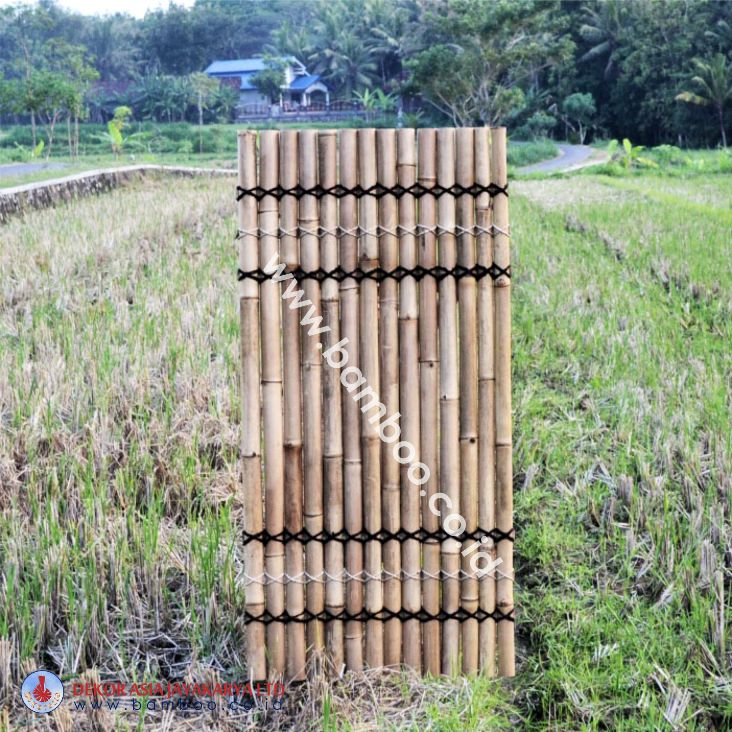 Natural Bamboo Half Raft Panel - Bamboo Panel and Bamboo Screen, Bamboo Screen, Bamboo Screens
