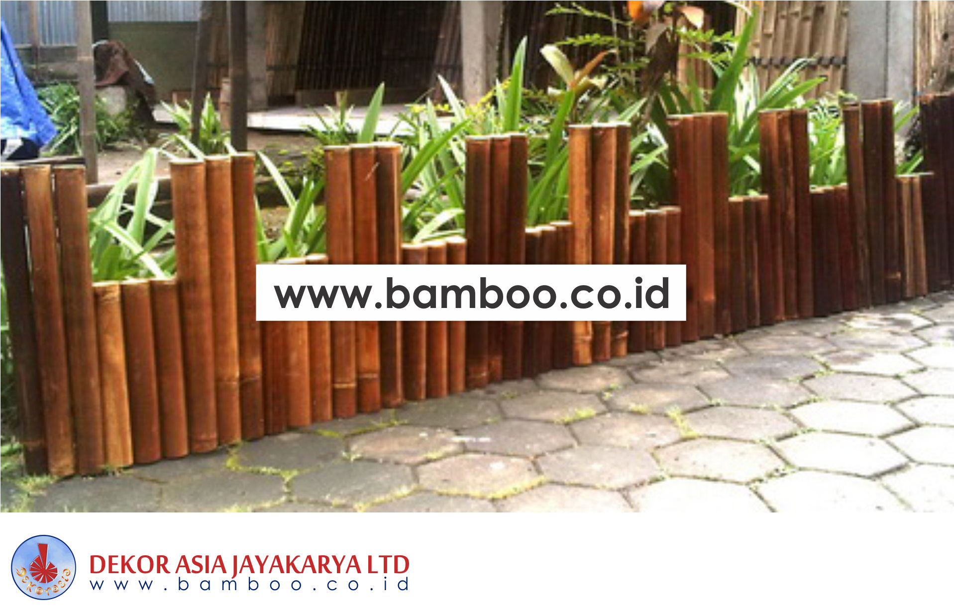 Black Bamboo Border Edging