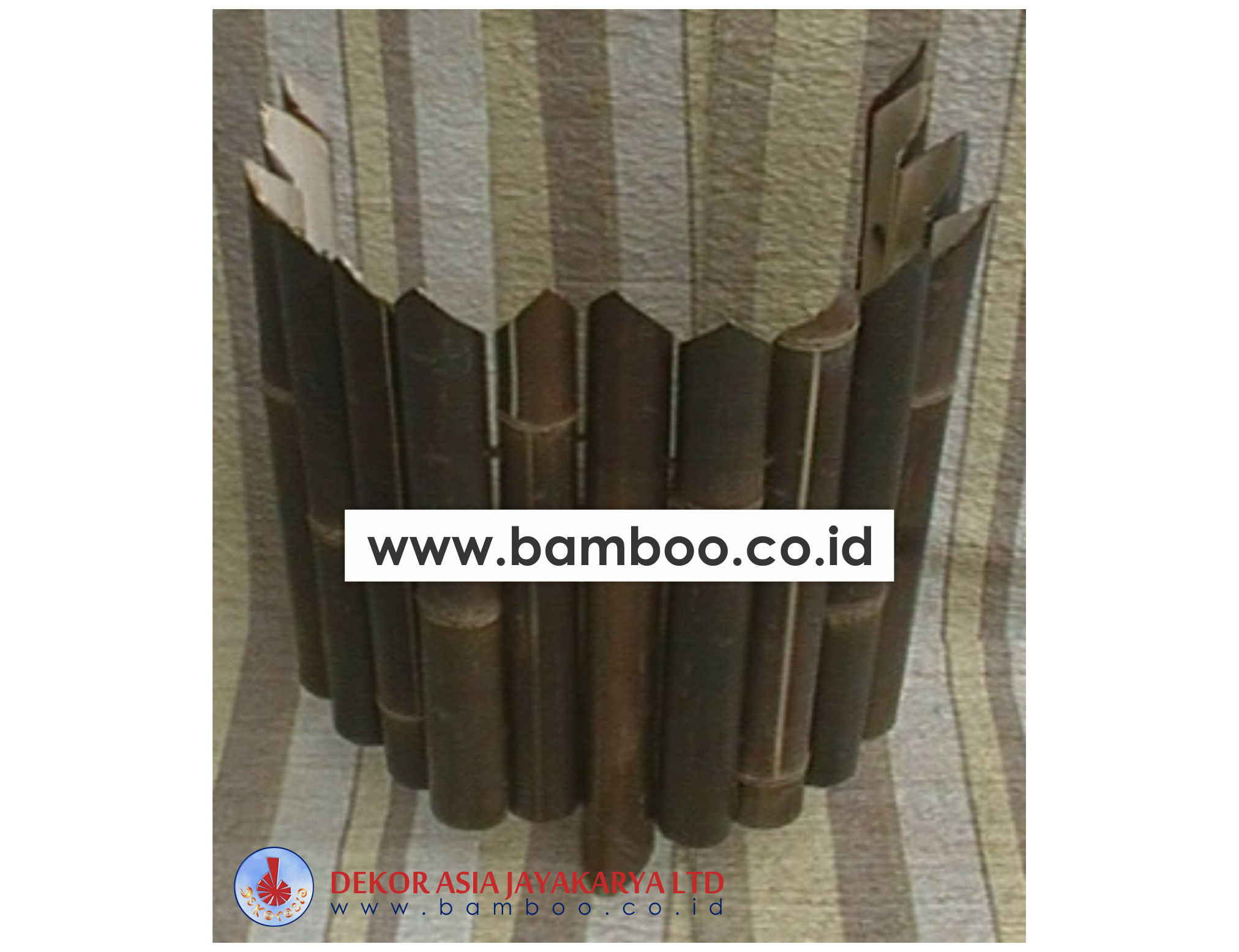 Decorative Black Bamboo Edging Roll